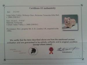 Bull certificate